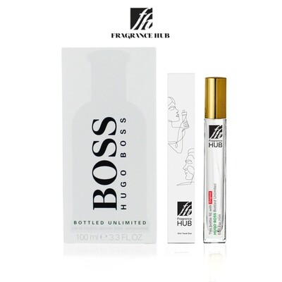 Hugo Boss Bottled Unlimited EDT Men 10ML Travel Size Perfume (Refill by Fragrance HUB) 🎁 FREE FH 15% Discount Voucher!