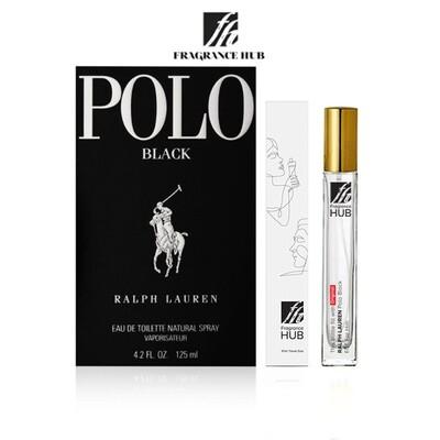 Ralph Lauren Polo Black EDT Men 10ML Travel Size Perfume (Refill by Fragrance HUB) 🎁 FREE FH 15% Discount Voucher!