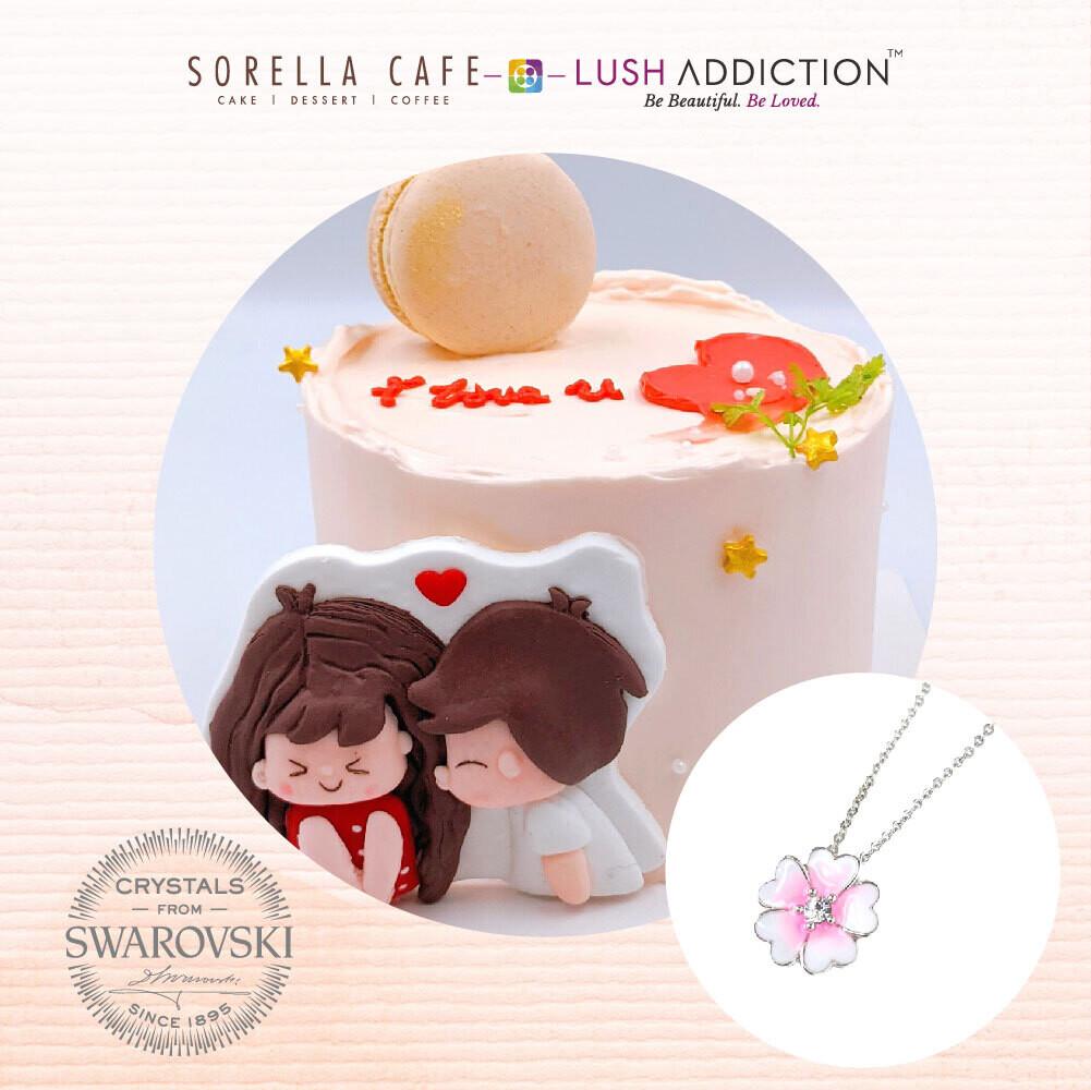 Pinku Strawberry + Lush Primrose Necklace Bundle Deal(By: Sorella Cafe from JB)