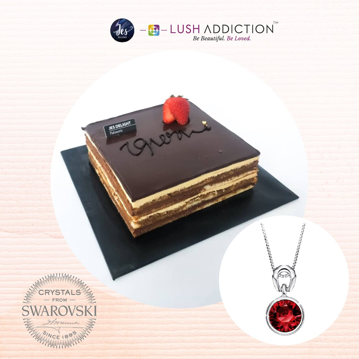 Opera Cake + Lush Solitaire Birthstone Necklace Bundle Deal (By: JES Delight from JB)