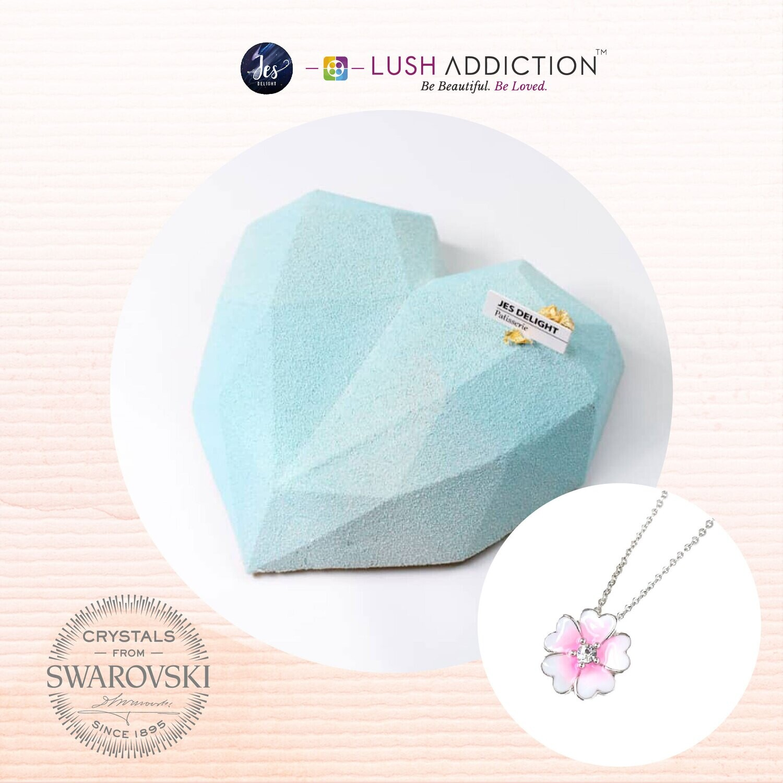 Blue Diamond Cake + Lush Primrose Necklace Bundle Deal (By: JES Delight from JB)