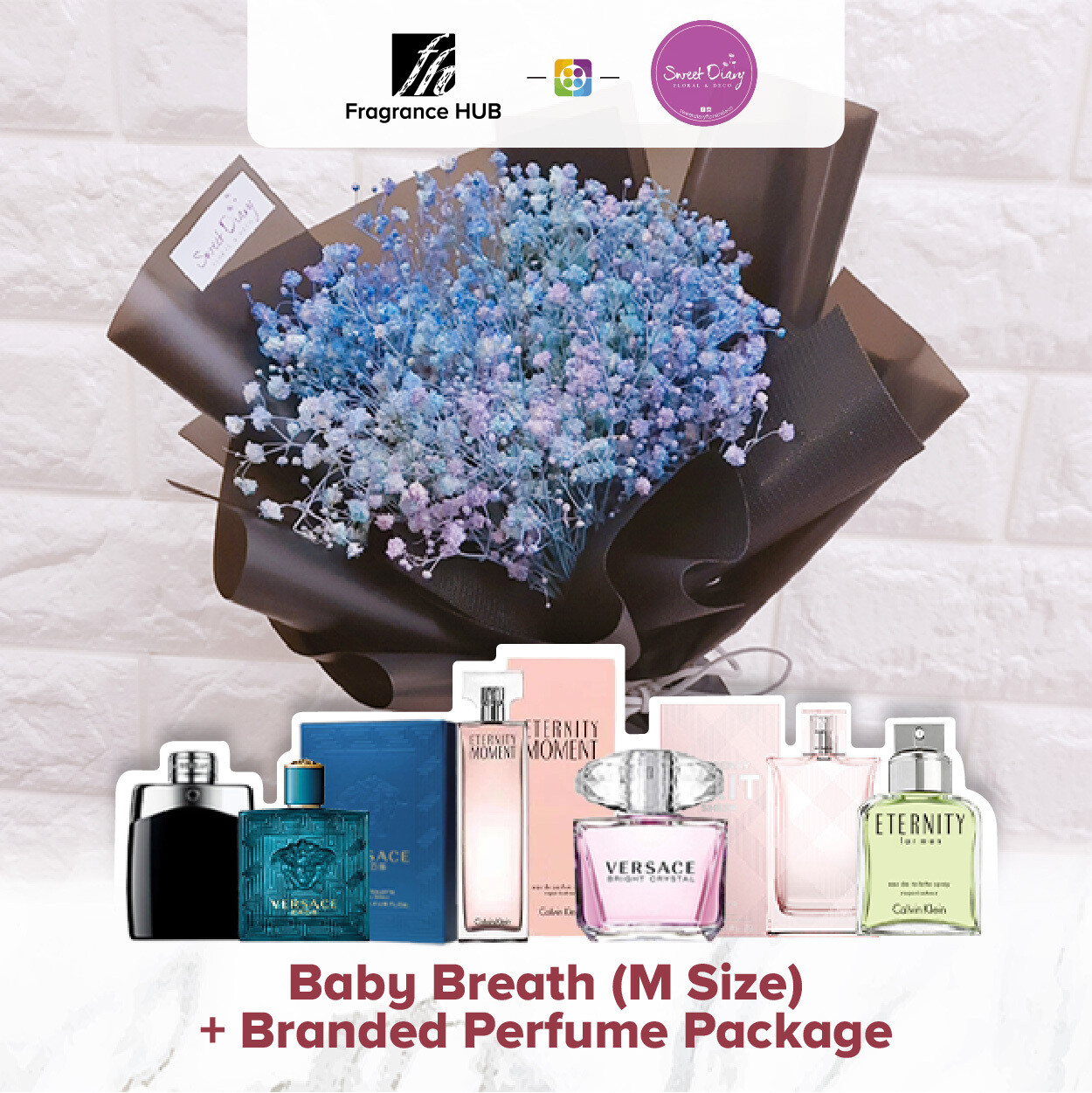 Baby Breath (M Size) + Fragrance Hub Branded Perfume (By: Sweet Diary from Puchong)