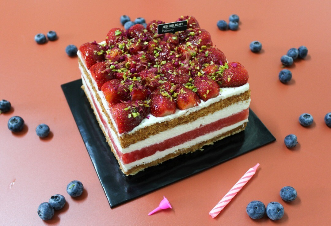 Watermelon Cake (square) (By: JES Delight from JB)