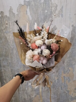 Preserved And Dry Flower Bouquet (By: Zhong Florist from Penang)
