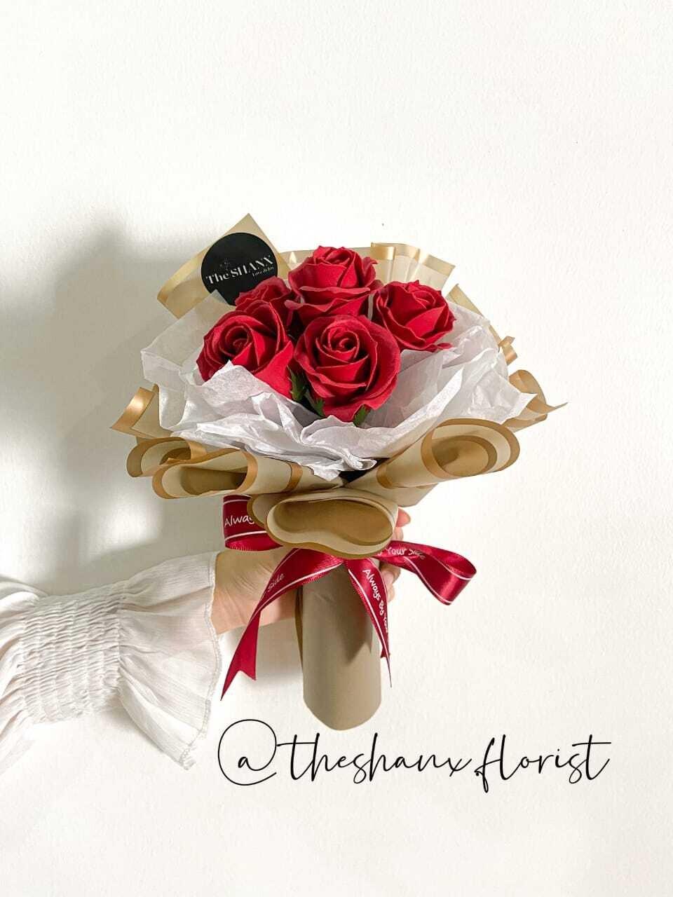 Red Roses For Love (Soap Flower) (By: The Shanx Florist from Melaka)