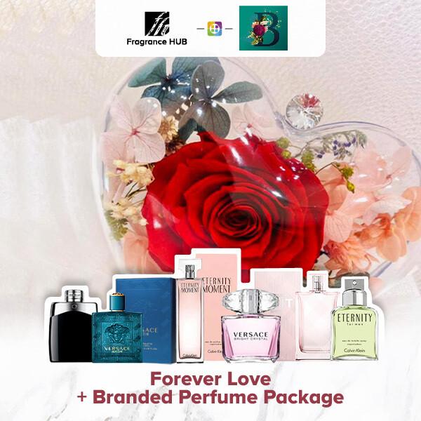 Forever Love Bouquet + Fragrance Hub Branded Perfume (By: The Bliss Florist from Melaka)