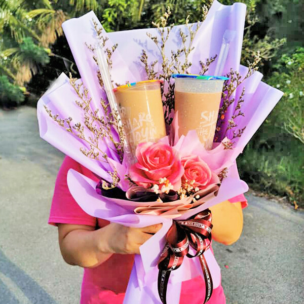 Milk Tea Flower Bouquet (By: Brilliant Creative Florist from Sibu)