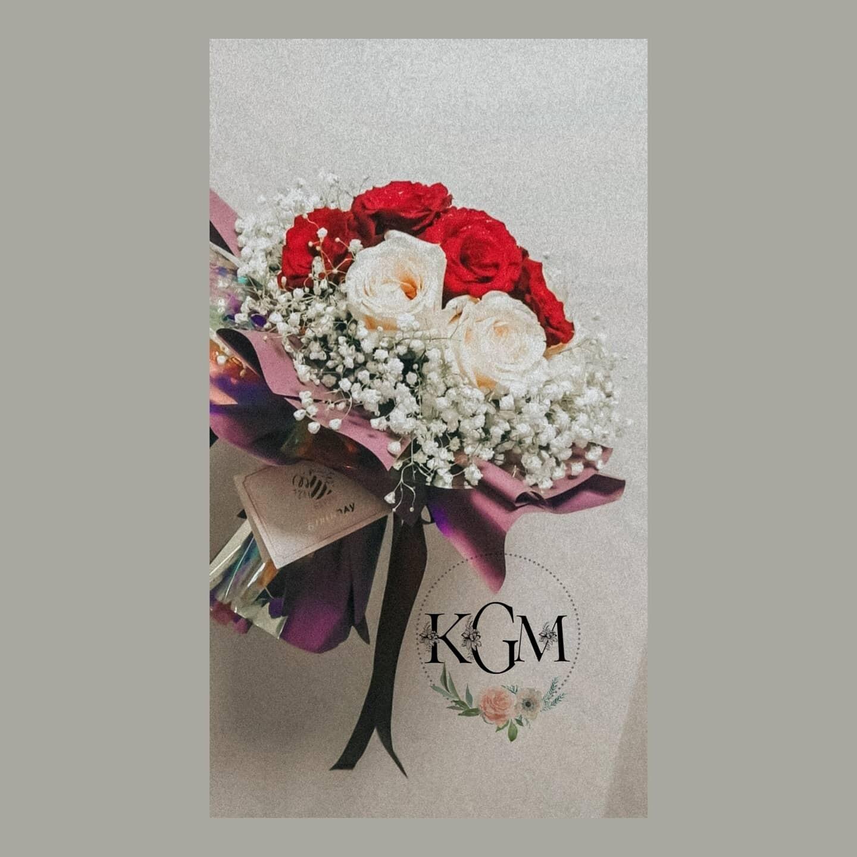Red Sandal 6-12 stem (By: Keshwini Florist from KL