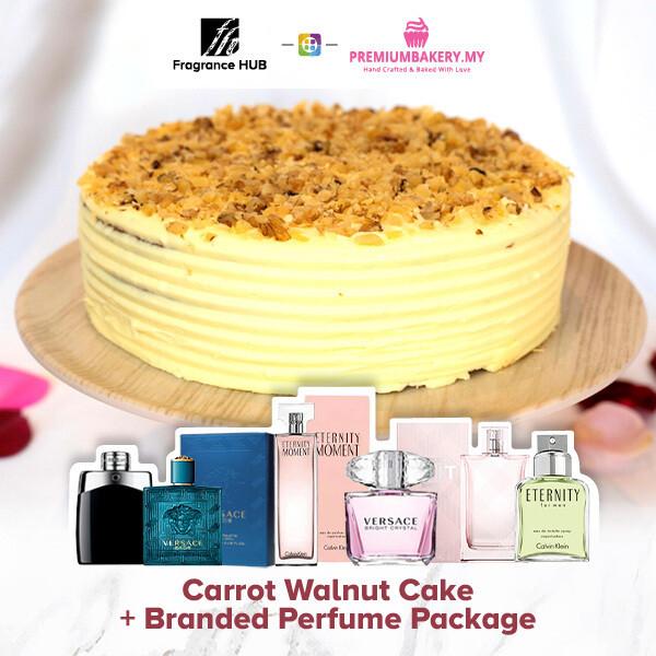 Carrot Walnut Cake + Fragrance Hub Branded Perfume (By: Premium Bakery from KL)