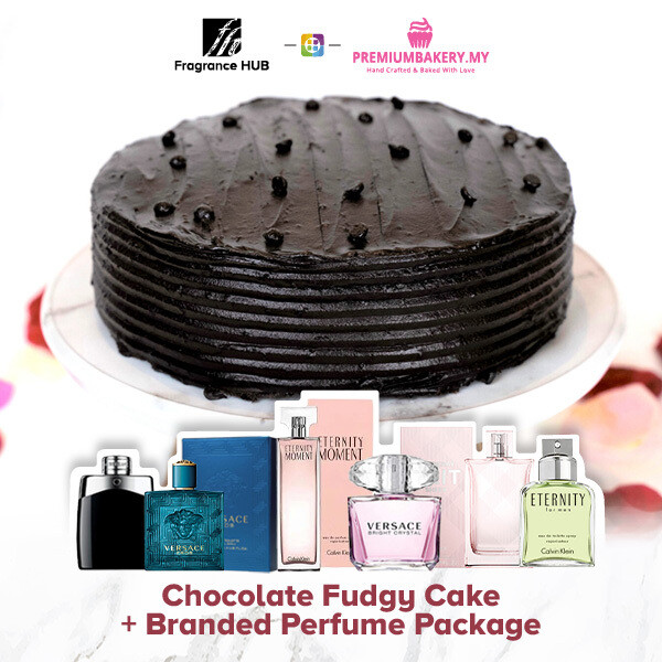 Chocolate Fudgy Cake + Fragrance Hub Branded Perfume (By: Premium Bakery from KL)