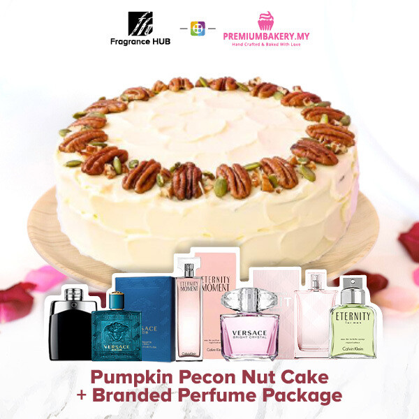 Pumpkin Pecon Nut Cake + Fragrance Hub Branded Perfume (By: Premium Bakery from KL)