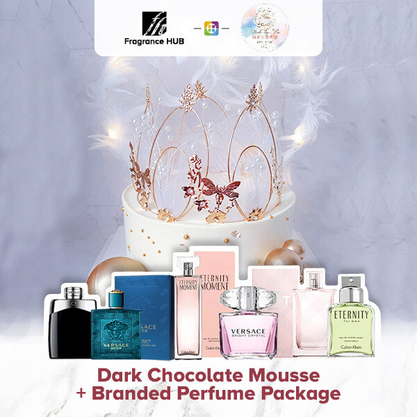 Dark chocolate mousse + Fragrance Hub Branded Perfume (By: Bake by bu from Penang)