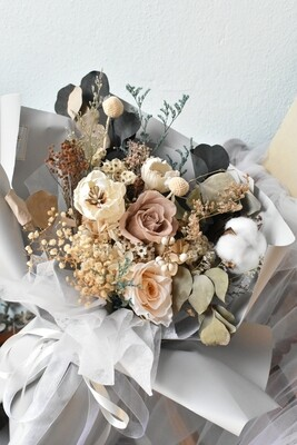 Vintage Preserved Dry Flower Bouquet (By: De Paris from Pulau Pinang)