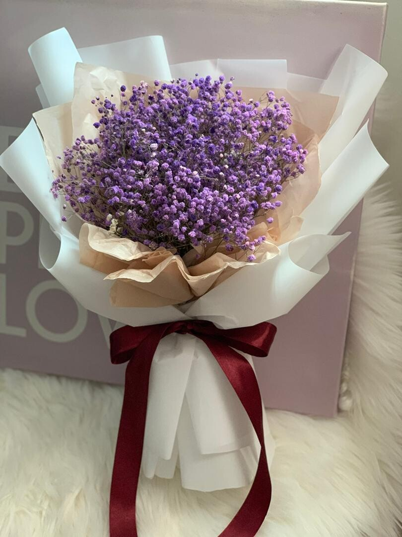Baby Breath Bouquet (M Size) (By: Stylush Studio Floral Design from Kota Kinabalu)