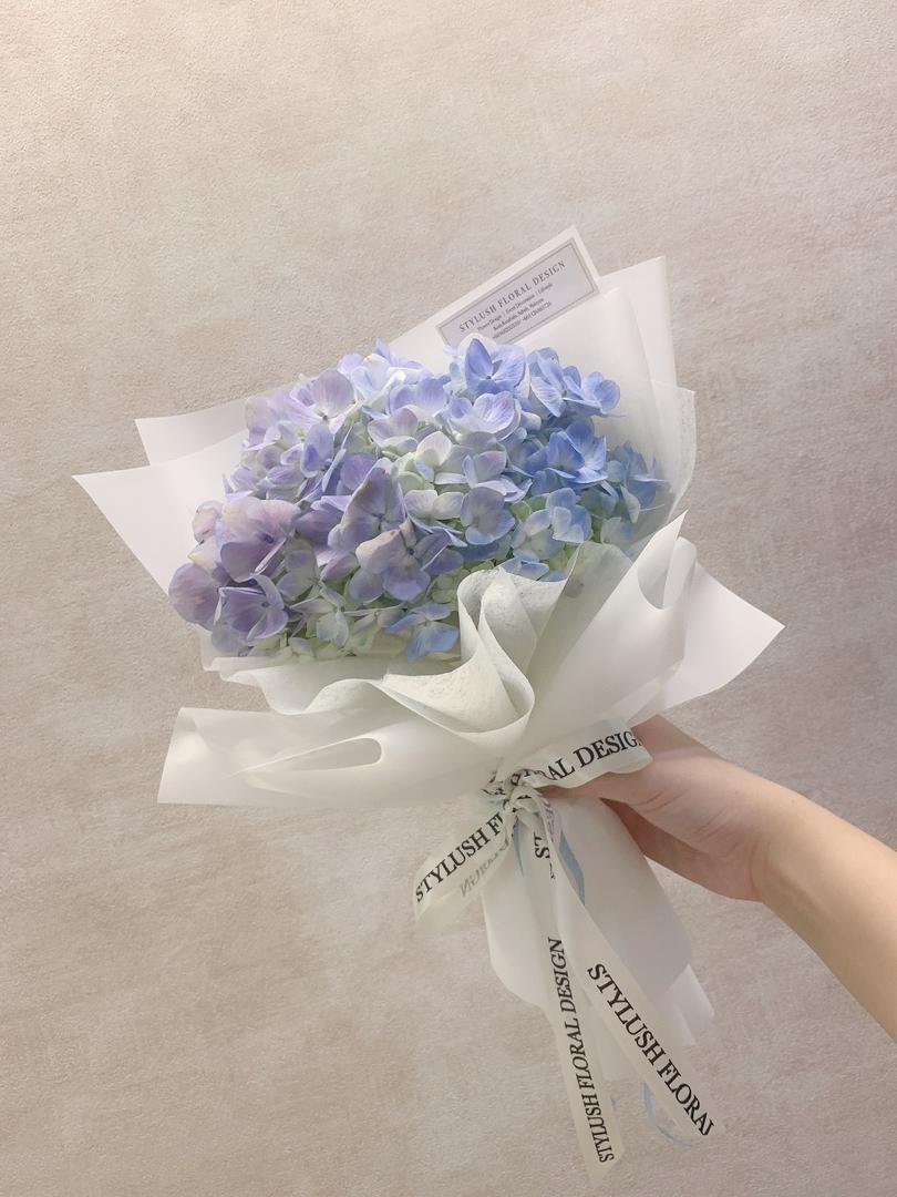 Hydrangea Bouquet (By: Stylush Studio Floral Design from Kota Kinabalu)