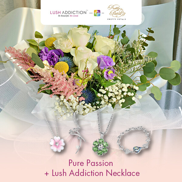 Pure Passion + Lush Addiction Necklace (By: Pretty Petals from Kuching)