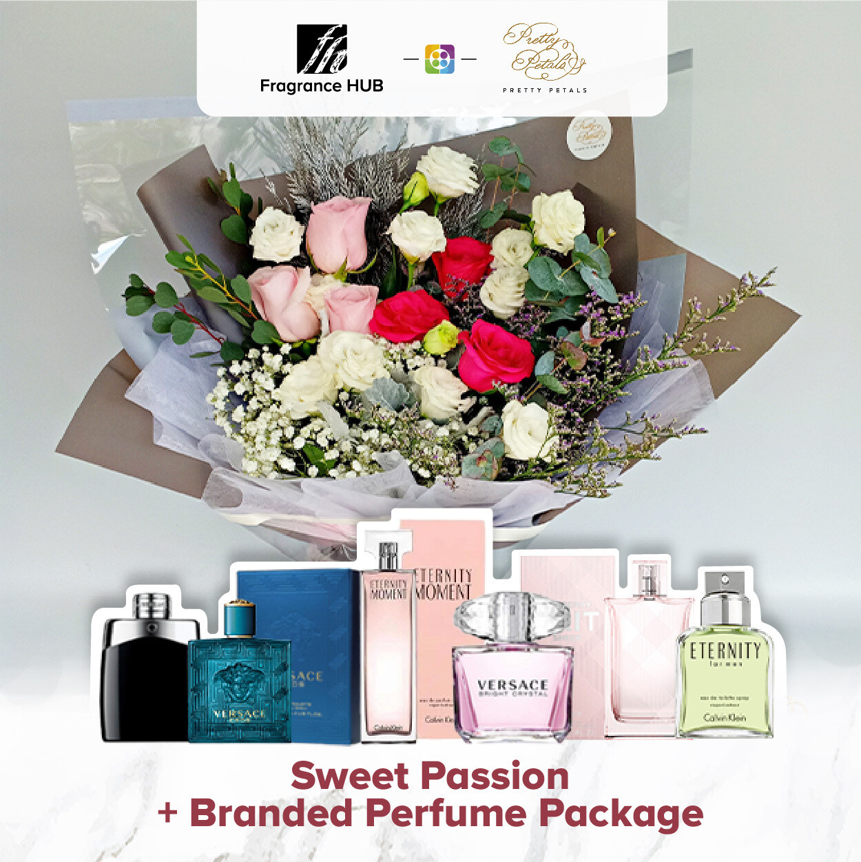 Sweet Passion + Fragrance Hub Branded Perfume (By: Pretty Petals from Kuching)