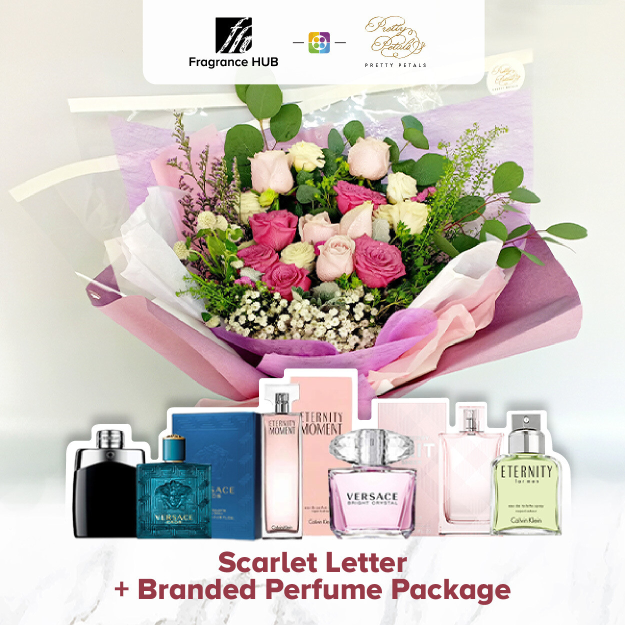 Scarlet Letter + Fragrance Hub Branded Perfume (By: Pretty Petals from Kuching)