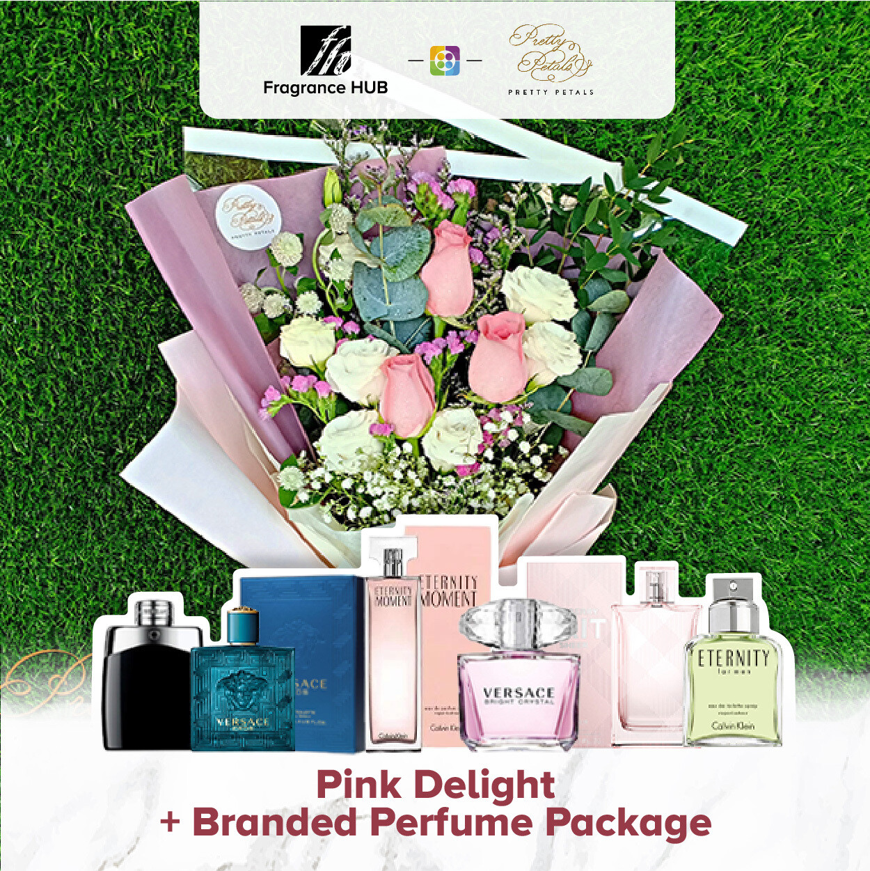 Pink Delight + Fragrance Hub Branded Perfume (By: Pretty Petals from Kuching)