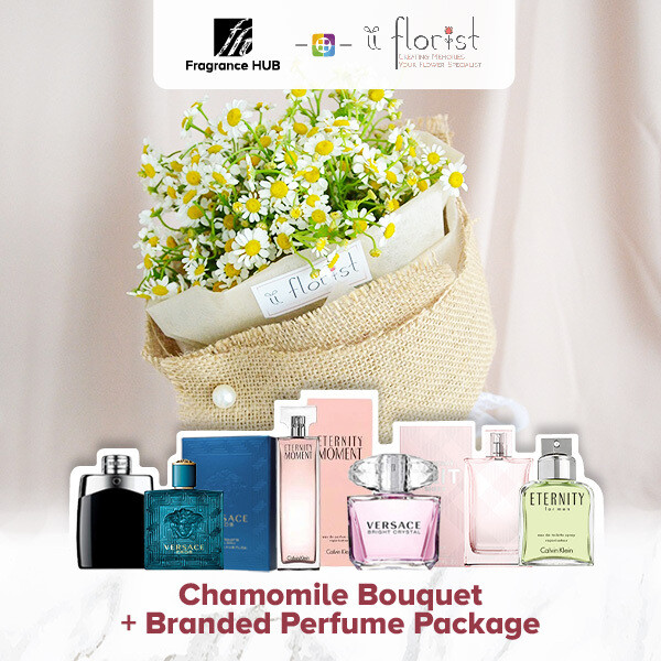 Chamomile Bouquet + Fragrance Hub Branded Perfume (By: iiFlorist from Cheras)