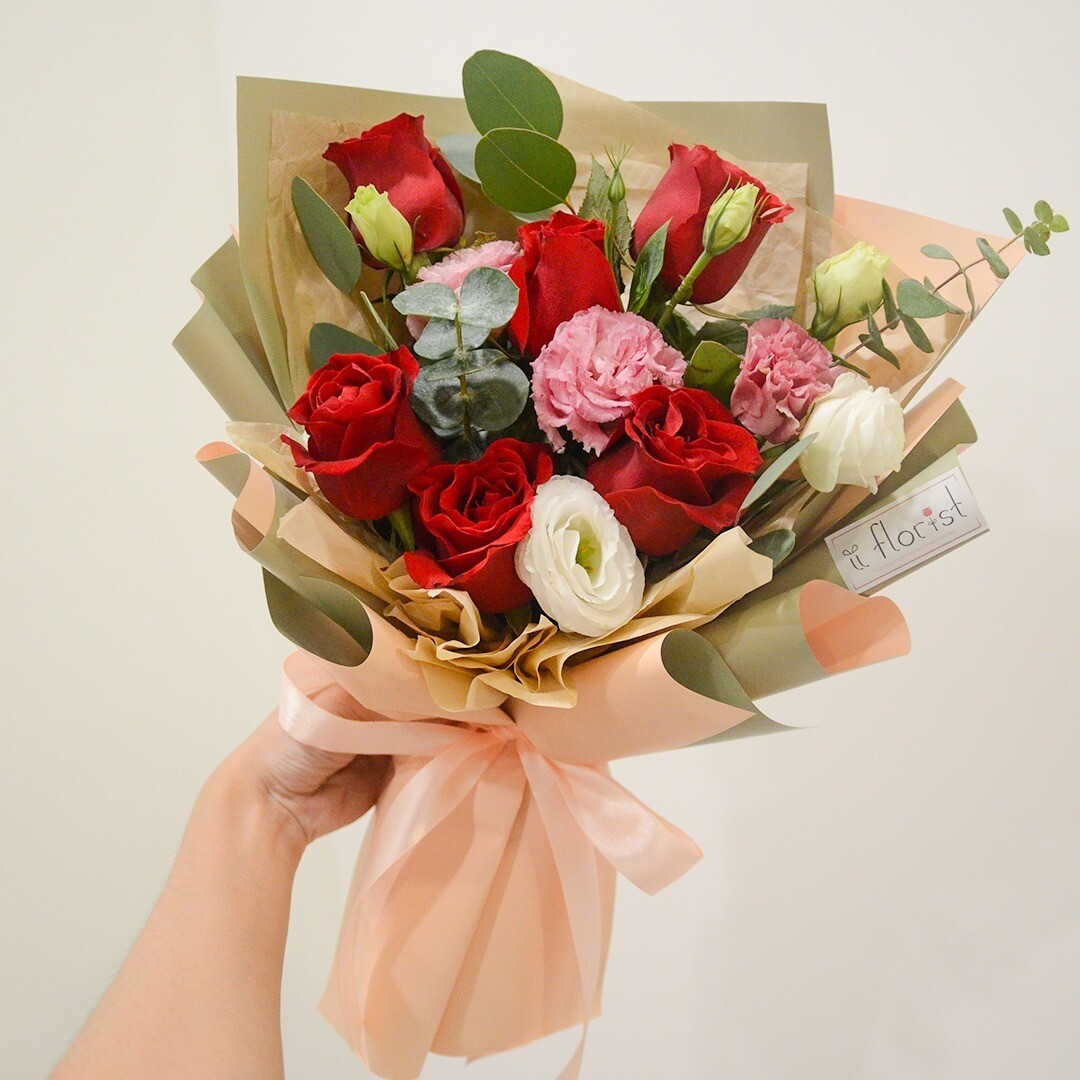 Red Rose Bouquet (By: iiFlorist from Cheras)
