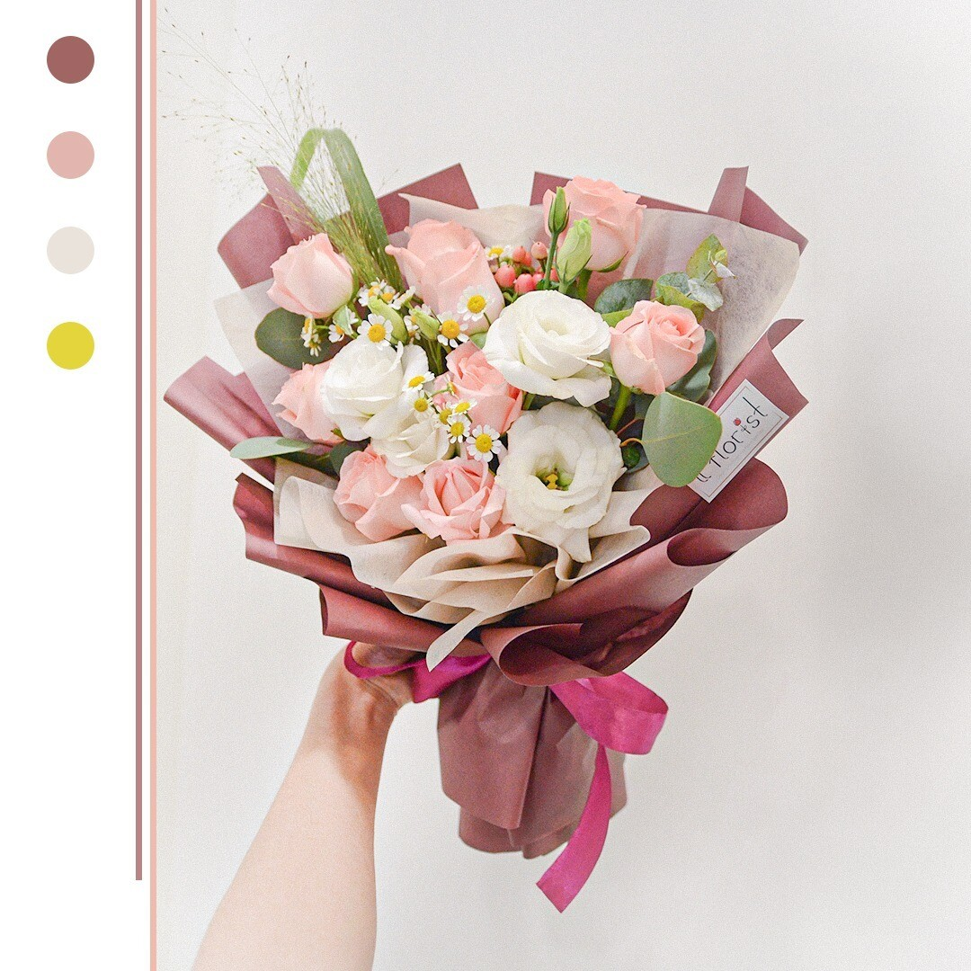Pink Rose Bouquet (By: iiFlorist from Cheras)
