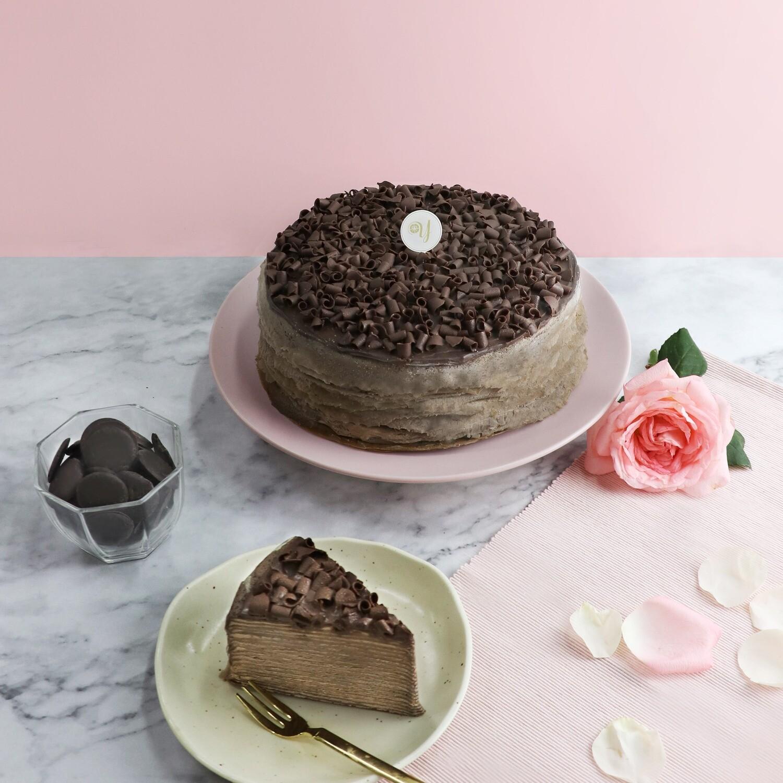 Dark Chocolate Mille Crepe Cake (By: Yippii Gift Cake from Kuala Lumpur)