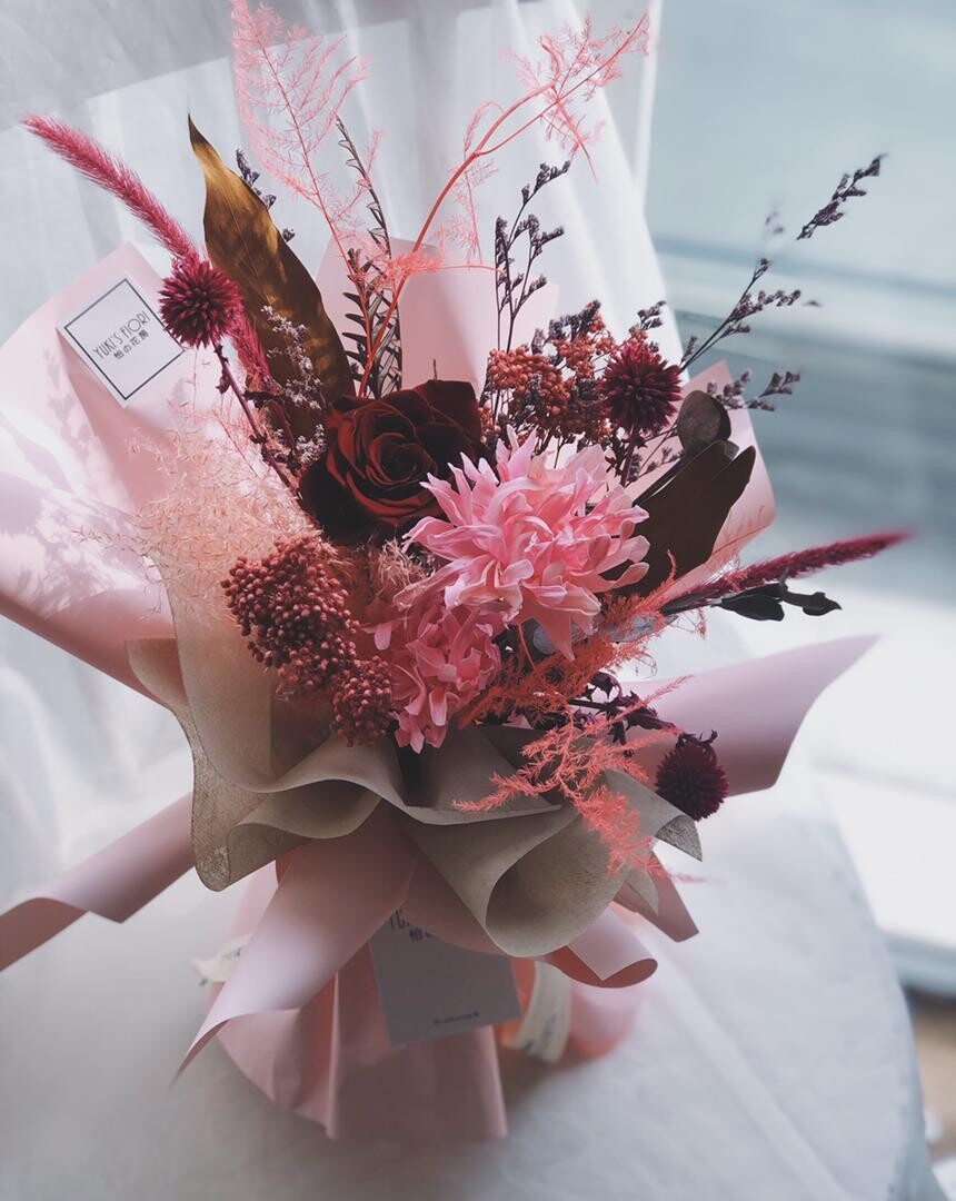 Preserved Flower Bouquet - Red Passionate (By: Yuki Flori from Bukit Jalil)
