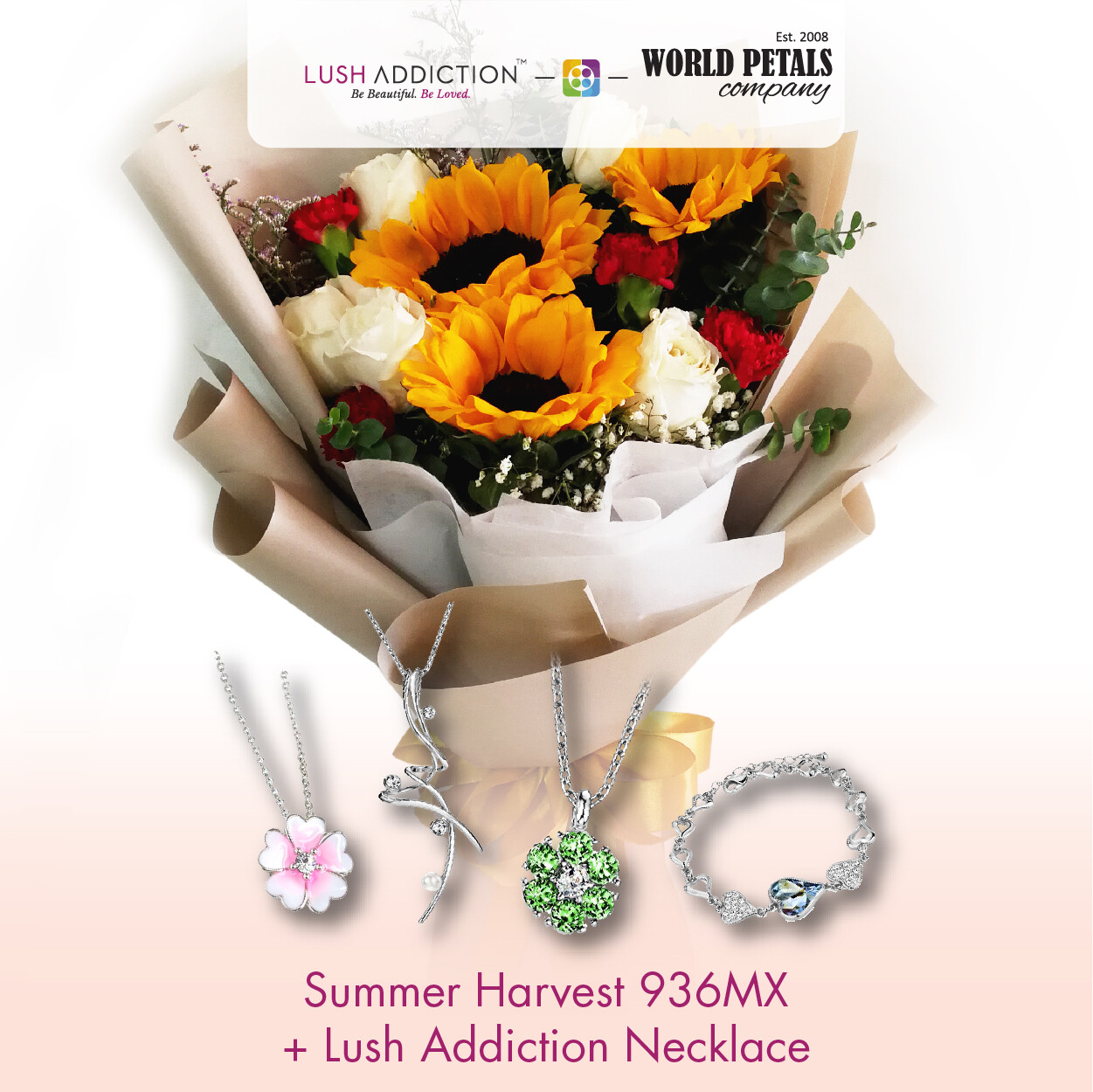 Summer Harvest + Lush Addiction Necklace (By: World Petals Florist from KL)
