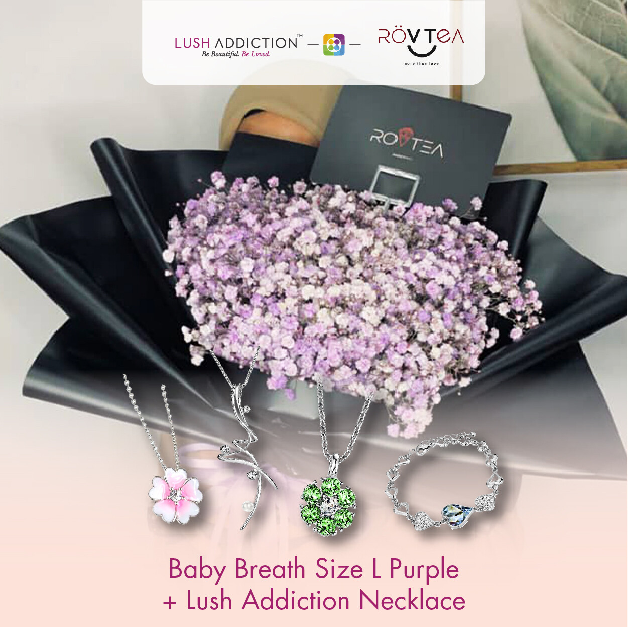 Baby Breath Size L Purple  + Lush Addiction Necklace (By: Rovtea Empire from Ampang)