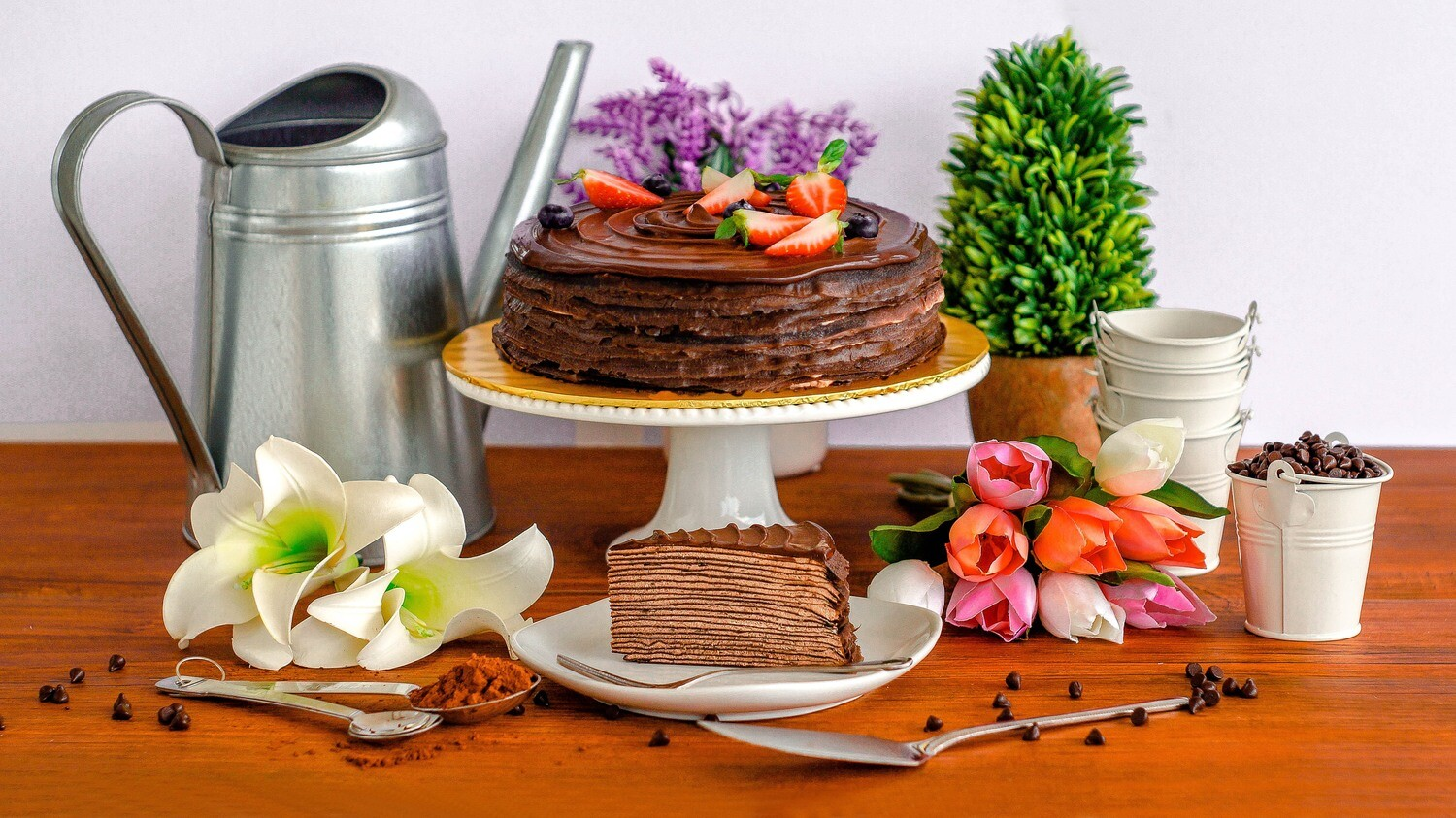 Triple Chocolate Crepe Cake (By: Junandus from KL)