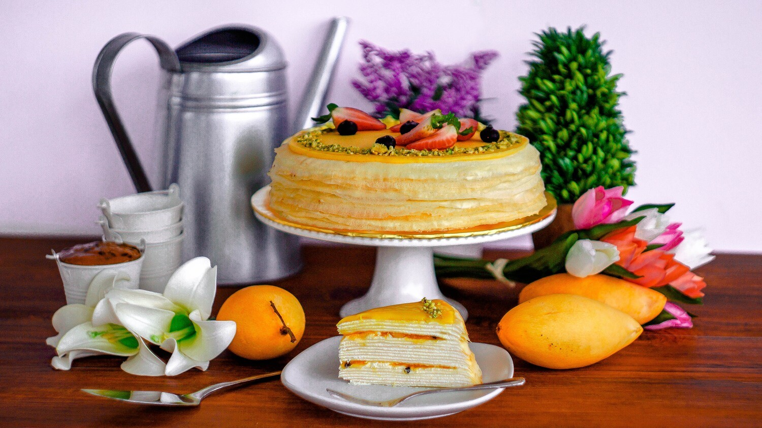 Mango & Passion Crepe Cake (By: Junandus from KL)
