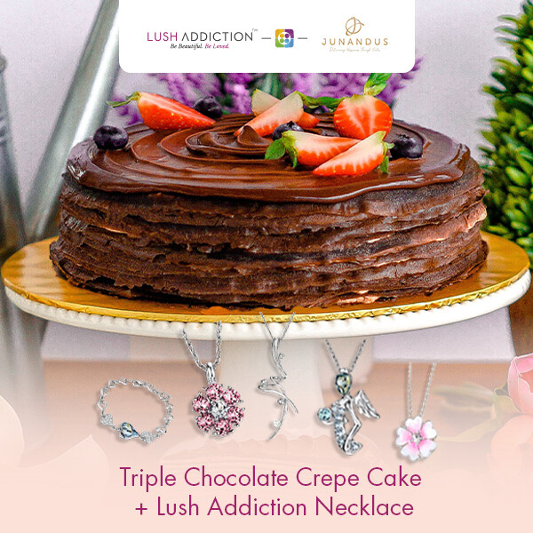 Triple Chocolate Crepe Cake + Lush Addiction Necklace (By: Junandus from KL)