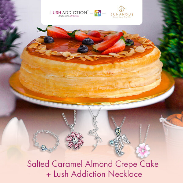 Salted Caramel Almond Crepe Cake + Lush Addiction Necklace (By: Junandus from KL)