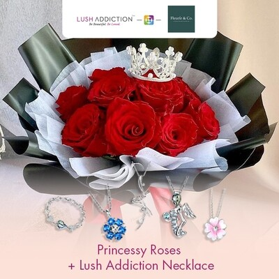 Princessy Roses + Lush Addiction Necklace (By: Fleurir & Co from Kuching)