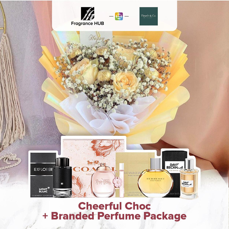 Cheerful Choc + Fragrance Hub Branded Perfume (By: Fleurir & Co from Kuching)
