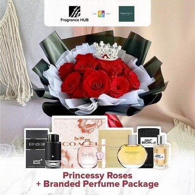 Princessy Roses + Fragrance Hub Branded Perfume (By: Fleurir & Co from Kuching)