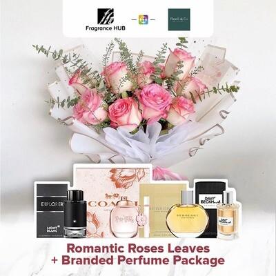 Romantic Roses Leaves + Fragrance Hub Branded Perfume (By: Fleurir & Co from Kuching)