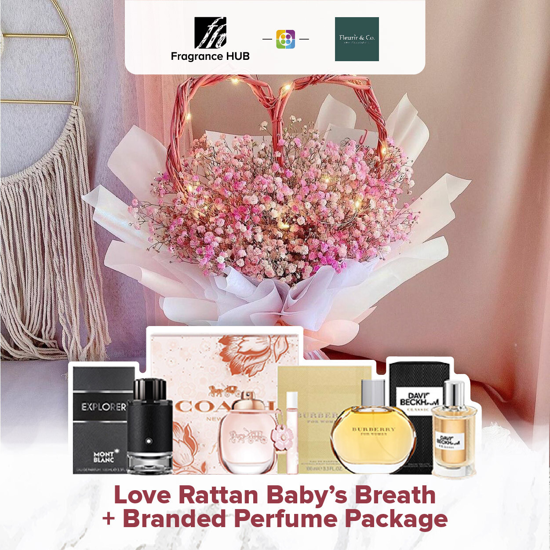 Love Rattan Baby's Breath+ Fragrance Hub Branded Perfume (By: Fleurir & Co from Kuching)