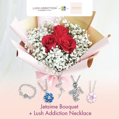 Jetaime + Lush Addiction Necklace (By: XOXO The Floral Studio from Miri)