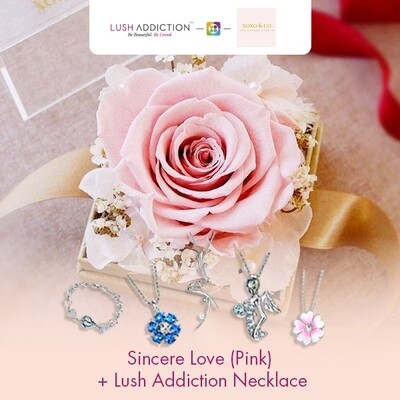 Sincere Love (Pink) + Lush Addiction Necklace (By: XOXO The Floral Studio from Miri)