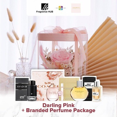 Darling (Pink) + Fragrance Hub Branded Perfume (By: XOXO The Floral Studio from Miri)