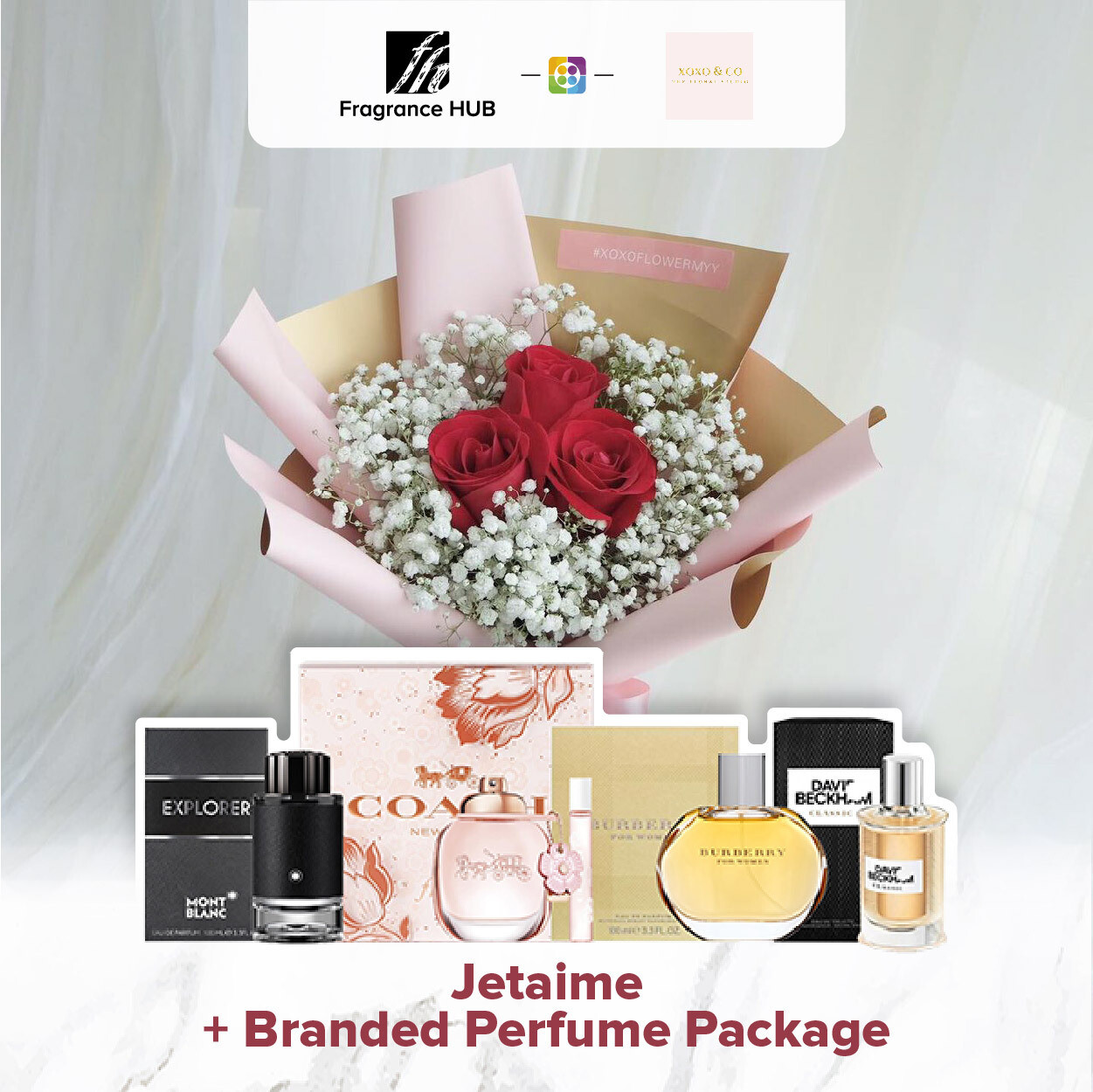 Jetaime + Fragrance Hub Branded Perfume (By: XOXO The Floral Studio from Miri)