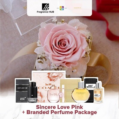 Sincere Love (Pink) + Fragrance Hub Branded Perfume (By: XOXO The Floral Studio from Miri)