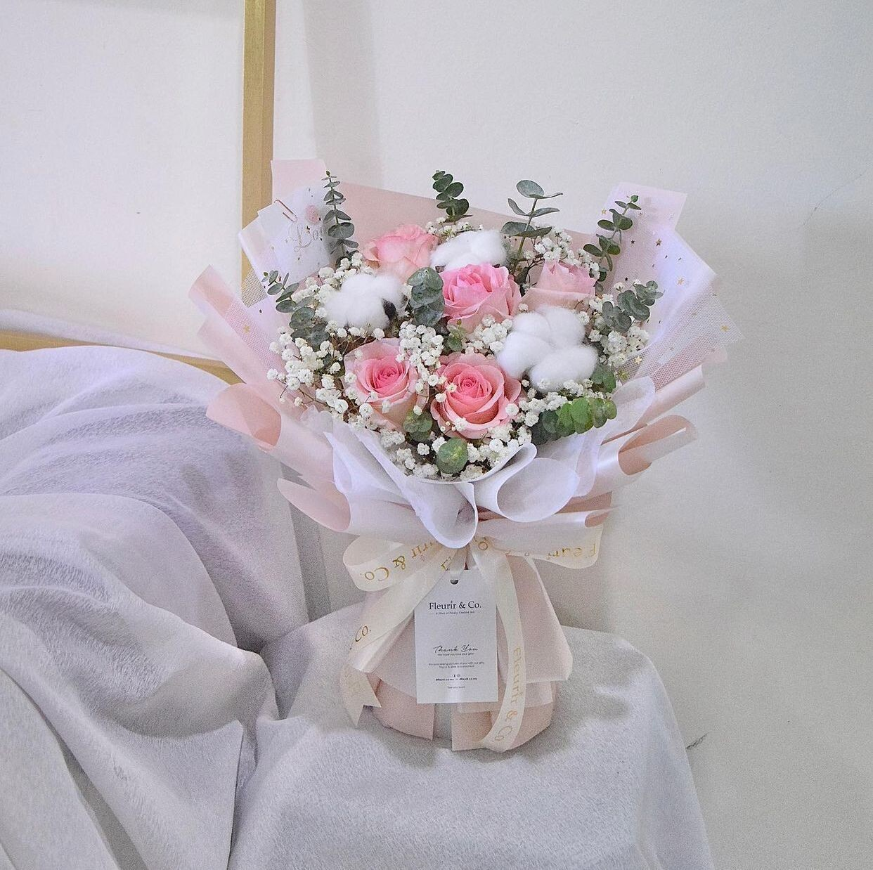 Cotton Roses (By: Fleurir & Co from Kuching)