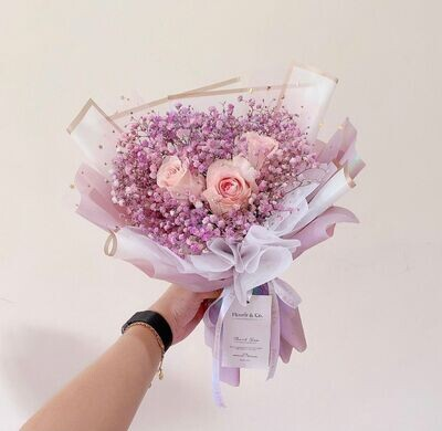 Signature Rose Baby's Breath (By: Fleurir & Co from Kuching)