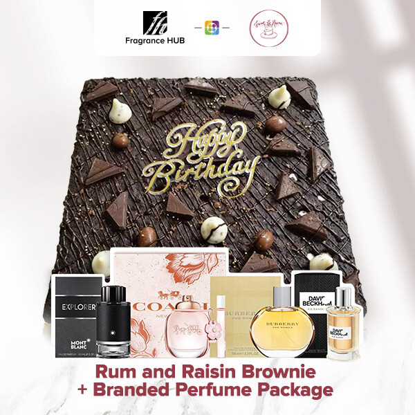 Rum and Raisin Brownie + Fragrance Hub Branded Perfume (By: Sweet Haven from KL)