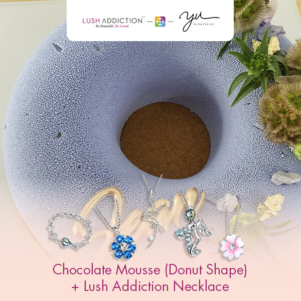 Chocolate Mousse (Donut Shape) + Lush Addiction Necklace (By: Yu.Qi Pastries  from KL)
