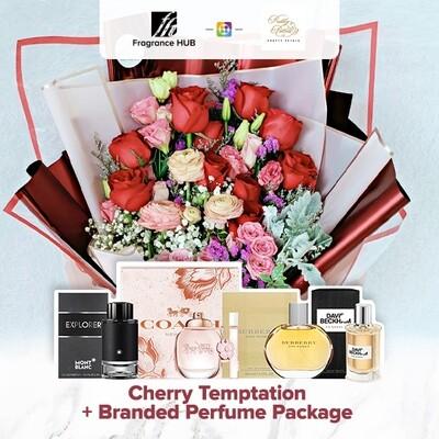 Cherry Temptation + Fragrance Hub Branded Perfume (By: Pretty Petals from Kuching)