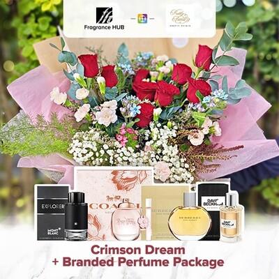 Crimson Dream + Fragrance Hub Branded Perfume (By: Pretty Petals from Kuching)